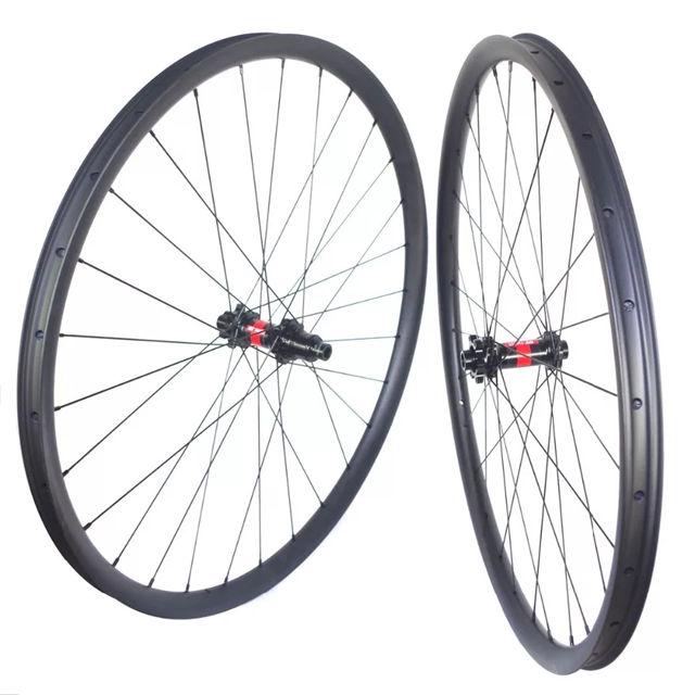 300g 29er MTB carbon Bicycle RIM XC 28mm tubuless Mountain Bike hookless rim